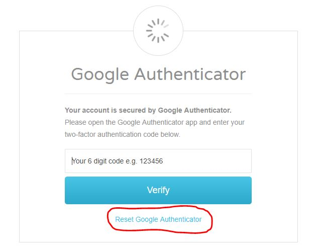I have lost access to the Google Authenticator app, how can
